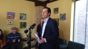 Barrie, Ont. Mayor Jeff Lehman announces he will seek re-election in this fall's municipal election on Wednesday, March 21, 2018. (Aileen Doyle/ CTV Barrie)