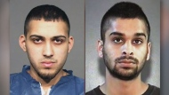 """Ronjot Singh Dhami, 25, and Parmvir """"Parm"""" Singh Chahil, 21, are both wanted on Canada-wide warrants in connection with an aggravated assault at Square One in Mississauga. (Peel Regional Police handout photos)"""