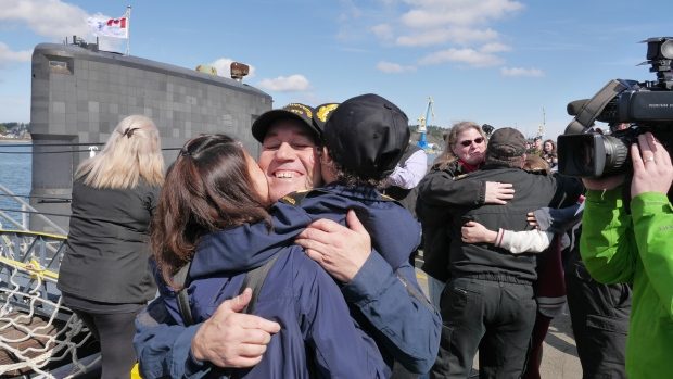 After nearly 200 days at sea away from their families, the sailors onboard the vessel are finally back home – and CTV was at CFB Esquimalt for their emotional return. (Scott Cunningham/CTV Vancouver Island)