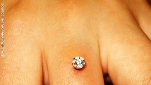 Diamond dermal piercings a new engagement trend