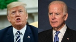 U.S. President Trump and former U.S. vice president Joe Biden is seen in this combination picture. (AP)
