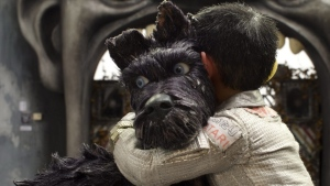 "This image released by Fox Searchlight Pictures shows the character Chief, voiced by Bryan Cranston in a scene from ""Isle of Dogs."" (Fox Searchlight via AP)"