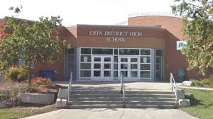 Around 9:30 a.m. Ontario Provincial Police were called to Erin District High School. (Source: Erin District High School website)