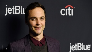 "Jim Parsons, a cast member in the television series ""The Big Bang Theory,"" poses during the 35th annual PaleyFest at the Dolby Theatre on Wednesday, March 21, 2018, in Los Angeles. (Photo by Chris Pizzello/Invision/AP)"