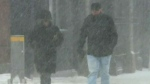 Many Maritime communities were dealing with heavy snowfall after Thursday's storm.