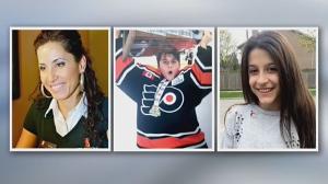 Thirty-nine-year-old Krassimira Pejcinovski, her 15-year-old son Roy Pejcinovski and her 13-year-old daughter Venallia Pejcinovski appear in these undated photos.
