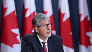 Privacy Commissioner Daniel Therrien holds a news conference at the National Press Theatre in Ottawa on Thursday, Sept. 21, 2017, to discuss his annual report. THE CANADIAN PRESS/Sean Kilpatrick