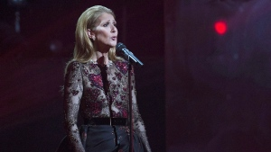 Celine Dion performs in memory and honour of her late husband Rene Angelil at the Gala Adisq awards ceremony in Montreal, Sunday, October 30, 2016. (THE CANADIAN PRESS/Graham Hughes)