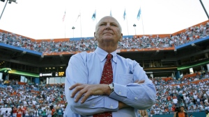 H. Wayne Huizenga at Dolphin Stadium in Miami, on Nov. 9, 2008. (Wilfredo Lee / AP)