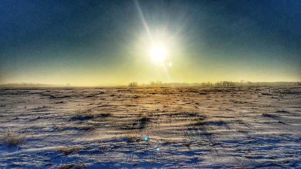 Beautiful morning view near Hartney. Photo by Dylan Bertholet.