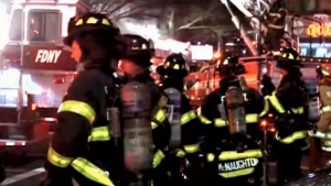 Firefighter dies battling blaze