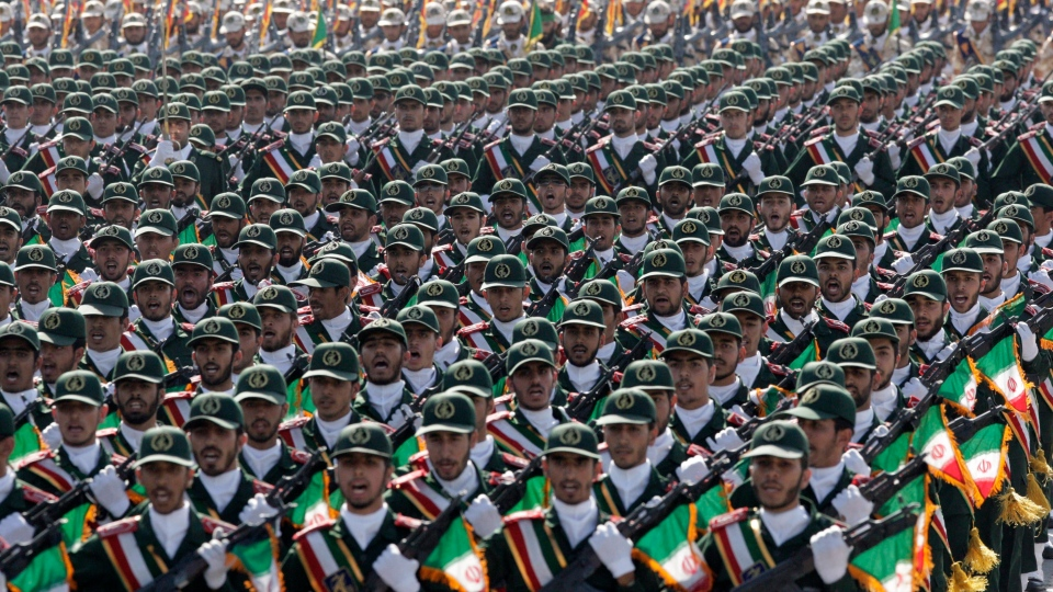 Iran's Revolutionary Guard troops
