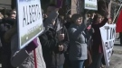 Demonstrators denounce pipeline expansion