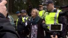 Elizabeth May Pipeline arrest