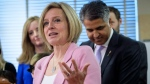 Premier Rachel Notley speaks at an event announcing new schools in Calgary, Alta., Friday, March 23, 2018.THE CANADIAN PRESS / Jeff McIntosh