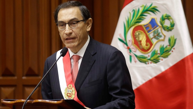 Peru's Congress votes to accept resignation of scandal-tainted president