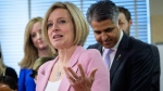 Alberta Premier Rachel Notley speaks at an event announcing new schools in Calgary, Alta., Friday, March 23, 2018.THE CANADIAN PRESS/Jeff McIntosh