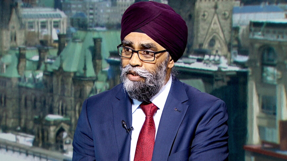 Defence Minister Harjit Sajjan on CTV's Question Period.