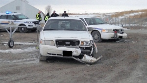 Man charged after bylaw officer vehicles rammed