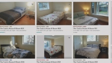 Since late December, bedrooms in the home have been advertised online for between $32 and $68 a night.