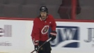 Karlsson back on the ice