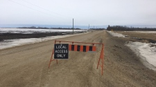 Road closed to Lake Winnipeg