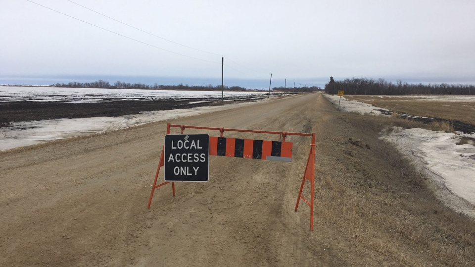 The Rural Municipality of St. Andrews closed a section of Chalet Beach Road. (Source: Beth Macdonell)