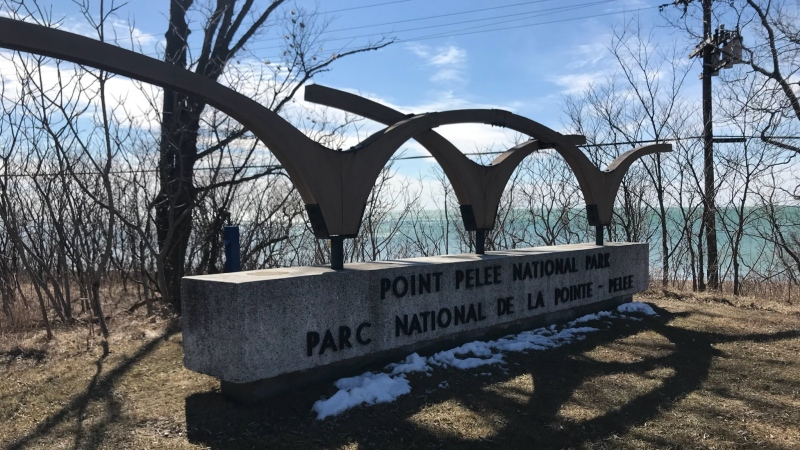 Point Pelee National Park sign on Tuesday, March 20, 2018. (Rich Garton / CTV Windsor)