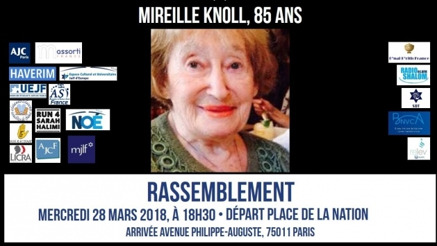 Leading Jewish group CRIF said 85-year-old Mireille Knoll was slain last week in Paris' eastern 11th district. (CRIF)