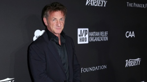 In this Jan. 6, 2018, file photo, Sean Penn arrives at the 2018 Sean Penn J/P Haitian Relief Organization Gala at Milk Studios in Los Angeles. (Willy Sanjuan/Invision/AP, File)