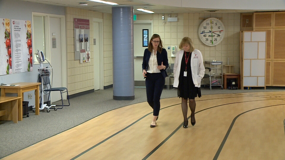 Dr. Jennifer Reed and Jane Brownrigg walk track.