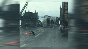 Highway 22 reopens after severe wind contributed to semi rollovers