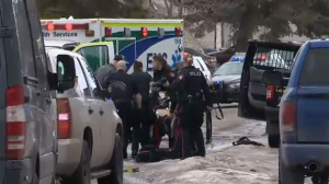 Officer shot in Abbeydale, suspect found dead in charred garage