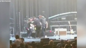 CTV News Channel: Matthew Good collapses on stage