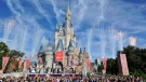 This image released by Disney shows fireworks punctuating the sky at the grand opening celebration at the Cinderella Castle for the New Fantasyland attraction at the Walt Disney World Resort's Magic Kingdom theme park in Lake Buena Vista, Fla. on Dec. 6, 2012. (File/AP)