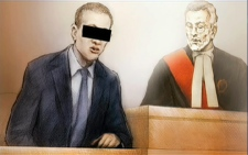 A court sketch shows the man accused in the death of Manny Castillo, left, in the Brampton, Ont. courtroom.