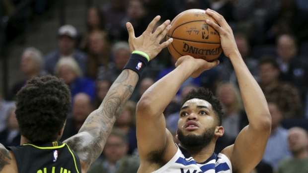 Towns Sets Franchise-Record With 56 Points Against Hawks