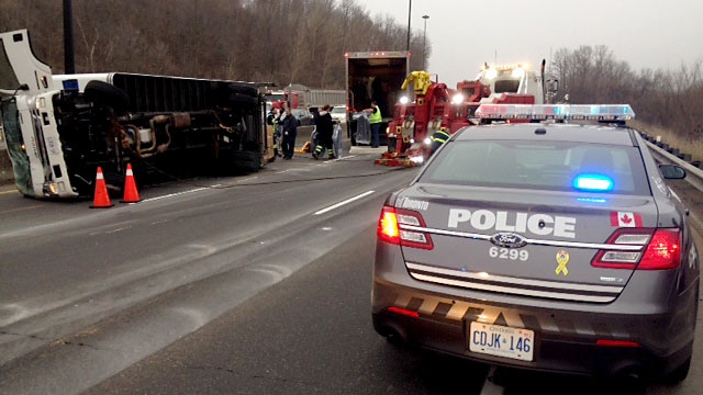 DVP delays after truck rollover