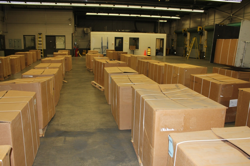 Contraband tobacco seized in Fort Erie, Ont. by Canada Border Services Agency during Project Mygale. (Source: CBSA)