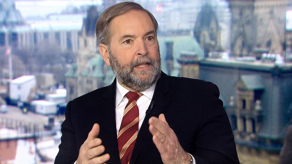 Former NDP leader Tom Mulcair on CTV's Question Period.
