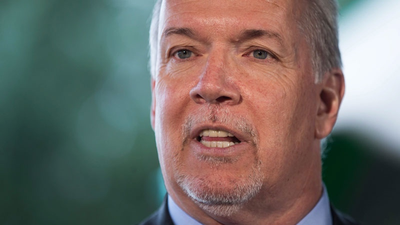 British Columbia Premier John Horgan speaks in Coquitlam, B.C., on Wednesday March 28, 2018. THE CANADIAN PRESS/Darryl Dyck