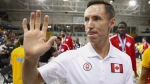 Coach Steve Nash leaves the court after his team lost to Brazil in their gold medal basketball game at the Pan Am Games in Toronto, Saturday July 25, 2015. (Mark Blinch/THE CANADIAN PRESS)