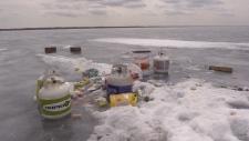 ice hut garbage