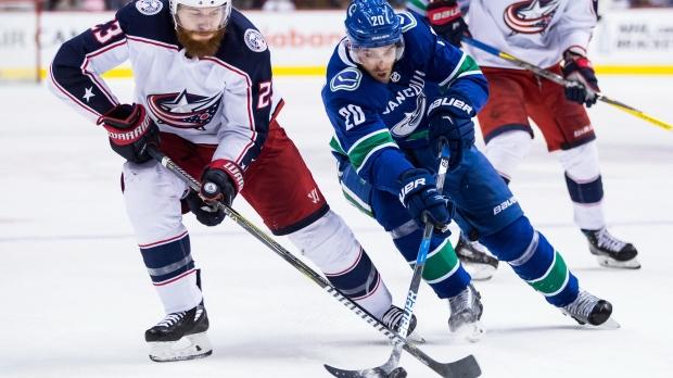81a38621af7 NHL fines Columbus defenceman Ian Cole for trip on Canucks  Sutter ...