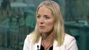 Environment Minister Catherine McKenna on CTV's Question Period. (CTV News)