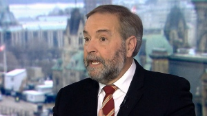 Former NDP Leader Tom Mulcair on CTV's Question Period. (CTV News)