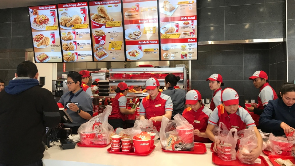 Feels Like Home Famous Filipino Fast Food Chain Draws Crowds In