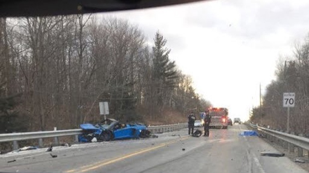 Police investigating deadly crash involving Lamborghini north of Toronto