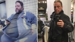 Tony Bussey is shown in this before and after photo that shows his weight loss in this handout combination photo. (THE CANADIAN PRESS/HO - Tony Bussey)