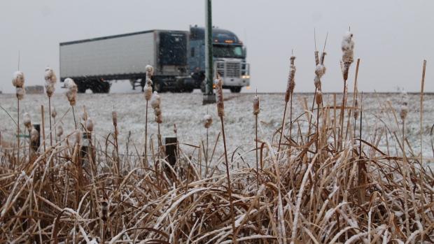 Snow east Regina